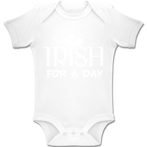 Anlässe Baby - Irish for A Day St Patricks Day - 3-6 Monate - Weiß - BZ10 - Baby Body Kurzarm Jungen ()