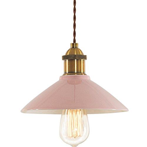 Deckenlampe Einzelner Kopf-Retro- Keramischer Leuchter-kreative Stab-Schlafzimmer-Esszimmer-Decken-Lampe Hängelampe (Color : Pink-Style-3) -