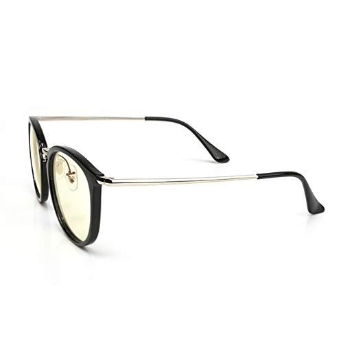 DXMR Entlastung der Augen vor Müdigkeit,Computer Lesen EyewearMetallbeschichtete Linse TR Flache Brille Computer Anti-Blau-Brille,Glasses Anti Blue Light