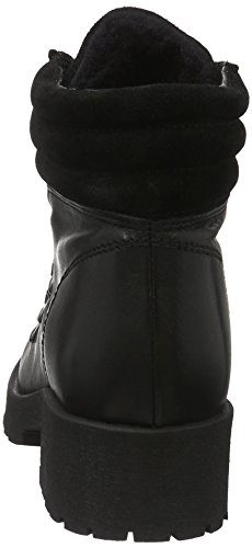 Schwarz Black Skiing Bianco Chaude Femme Courtes Noir Warm avec Boot Doublure Bottes 10 Son16 AqPw7q