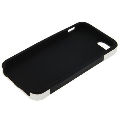 Proteggi il tuo iPhone, Plastic + Silicone Case combinazione con schermo Protertor & CleaningCloth per iPhone 5 e 5s & SE Per il cellulare di Iphone ( Colore : Nero ) Nero
