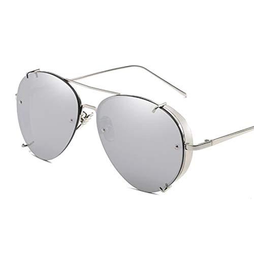 AAMOUSE Sonnenbrillen Luftfahrt-Sonnenbrille große Frauen Vintage er Hipster rote Metal Steampunk-Sonnenbrille für Frauen