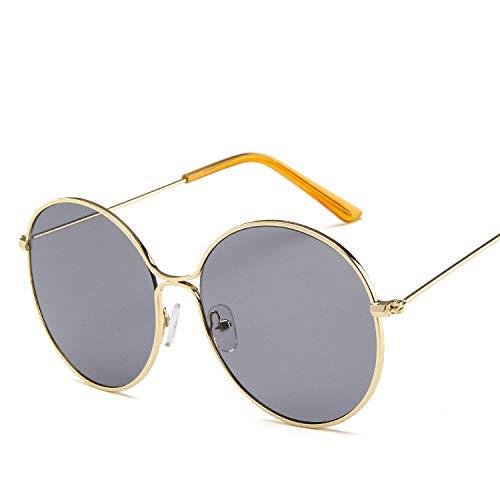 Sonnenbrille aus Metall, rund, hohl, Retro-Lackierung, Sonnenbrille in Europa und den Vereinigten Staaten, Ozean, Sonnenbrille, Gelb wie abgebildet