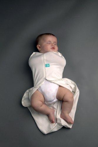 Zip Up Baby Swaddle 0,2 TOG, Baby-Groß (~6-11 kg, Sack-Länge ~80 cm), natur