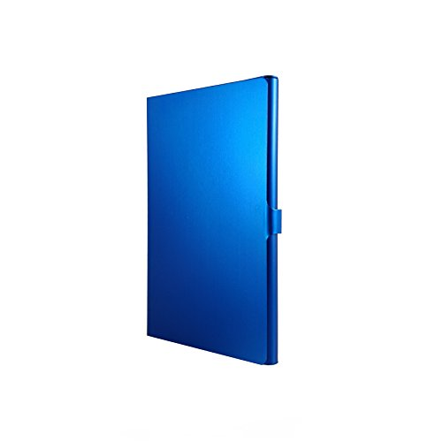Visitenkartenetui Aluminium eloxiert in sportlich edlem Design (SAPPHIRE BLUE) (Metall-filtration)