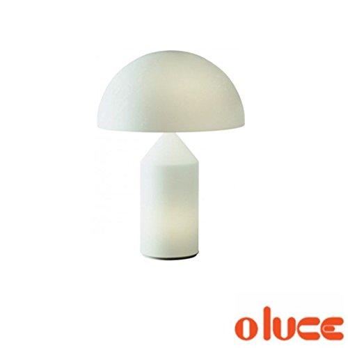 Oluce Atollo 236lámpara de mesa 2x 60W E141x 25W Cristal