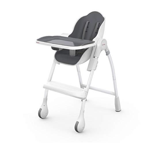 Camping High Chair, Seat, Grey, monoton, 2-Point Hart, Boy//Girl /High Chairs Stokke 7040351593182/Camping High Chair Seat Festplatte Grey/
