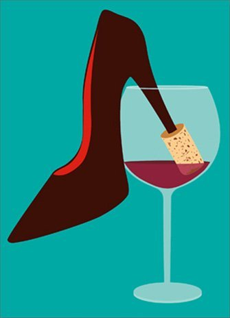 High Heel Cork A*Press Birthday Card by Avanti Press