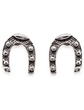 Ohrringe Sterling Silber 925/000Nägel Form Hufeisen Symbol Chance