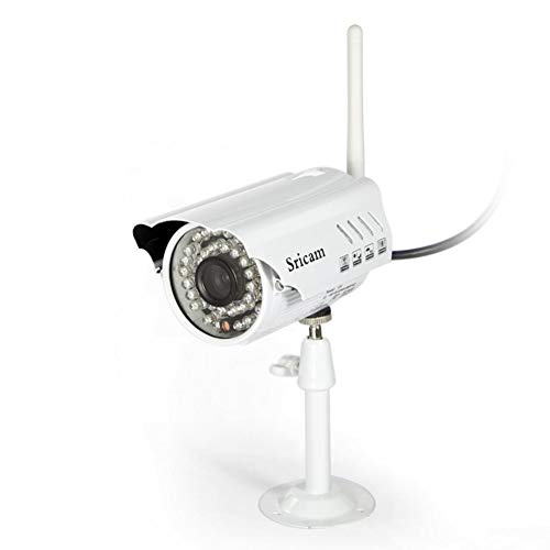 JUILARY-Surveillance Cameras Überwachungskamera Digital HD Drahtlose Remote-Night-Vision-Erkennung Alarm Outdoor Wasserdichte Pistole Zu Hause Sicherheits System Weiß (Hause-surveillance-system Zu Sicherheit)
