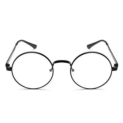 PeiXuan2019 Frauen Männer Runde Brillenglasrahmen Gläser Mit Klarglas Optischen Rahmen Transparente Gläser Für Harry Potter (Color : Black)