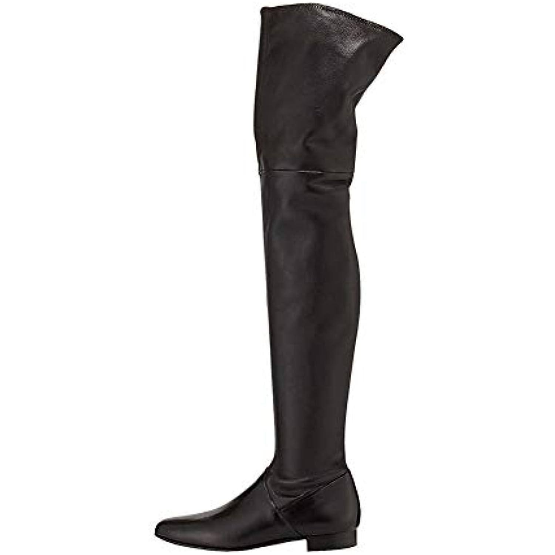 ¥*Shoes Femmes Au-Dessus Épais Des Bottes Au Genou Plates Talons Hauts Épais Au-Dessus Tête Ronde Martin,Black,43EU - B07KF15CPC - 486fcd