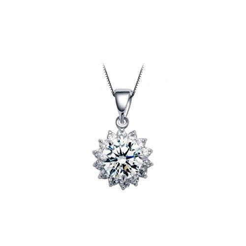 NIUWJ Damen S925 Sterling Silber Mode Einfache Anhänger Voller Diamanten Sterne Platinschmuck