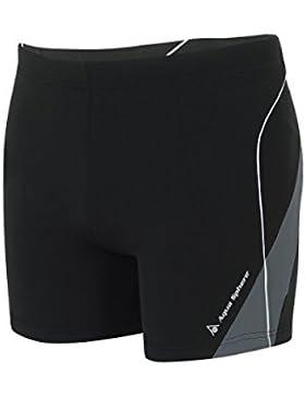 Aqua Sphere hombres de Dario natación Boxer, hombre, SM254011285, negro y gris oscuro, talla 34/36