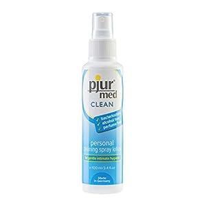 pjur med CLEAN – Hygienespray zur schonenden Reinigung der Haut & Intimbereich – bakteriostatisch, alkohol- & parfümfrei – 1er Pack (1 x 100 ml)