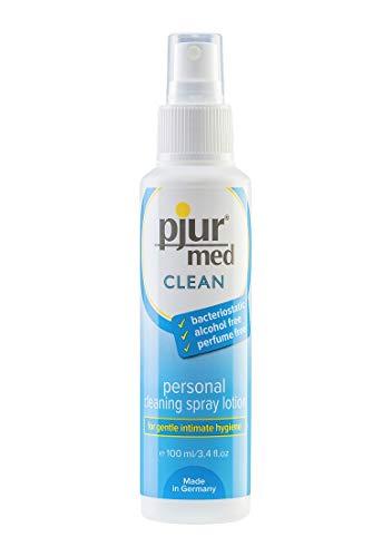 pjur med CLEAN - Hygienespray zur schonenden Reinigung der Haut & Intimbereich - bakteriostatisch, alkohol- & parfümfrei - 1er Pack (1 x 100 ml)