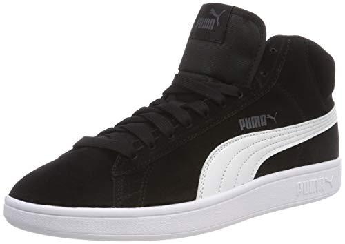 Puma Unisex-Erwachsene Smash v2 Mid SD Hohe Sneaker, Black White, 37.5 EU