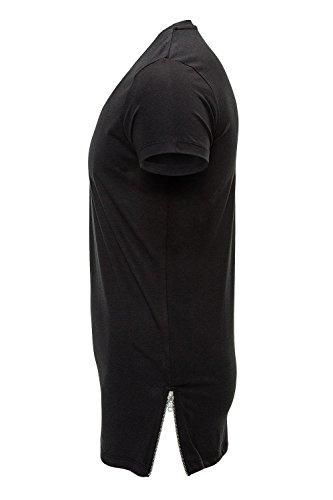 Selected Herren T-Shirt Schwarz Schwarz
