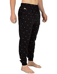Lacoste Hombre Pijama de Punto Bottoms, Negro