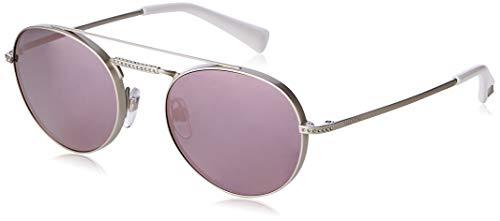 Valentino Damen 0VA2004B 30195R 51 Sonnenbrille, Silber (Shiny Sandblast Silver/Greymirrorpink)