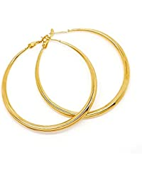 77e01197b836 BOBIJOO Jewelry - Gran Par de aretes Anillos Criollos de Acero Dorado de Oro  Final de