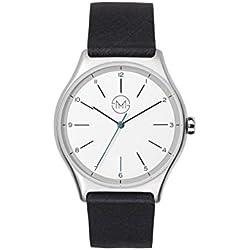 slim made one 02 - Extra flache Uhr in silber / schwarz