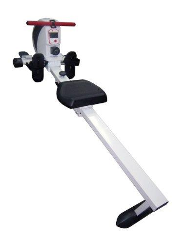 AsVIVA RA8 Rudergerät Rower Cardio VIII inkl.Fitnesscomputer und Pulsempfänger mit 10kg Schwungmasse sowie 8 manuellen Widerstandsstufen und klappbar