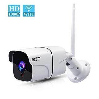 QZT Außen WLAN Kamera, HD 1080P WiFi IP Kamera Home Überwachungskamera mit Nachtsicht, Ethernet Video Überwachung Cam (Outdoor)