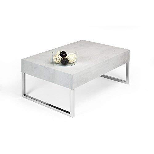 Mobilifiver evo xl tavolino da salotto, legno, cemento, 90x60x40 cm