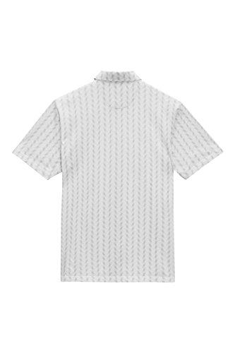 next Herren Gemustertes Poloshirt Normale Passform Kurzarm T Shirt Polo Top Grau