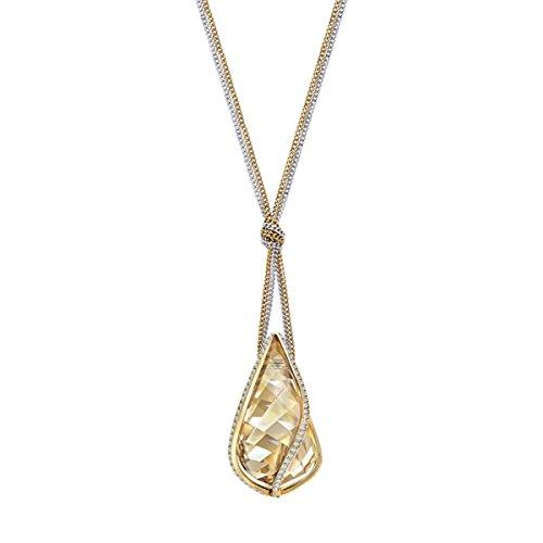 Swarovski pendente energic, grande, dorato, placcatura mista