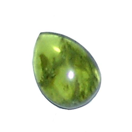 Peridot/Olivin flacher Trommelstein Rarität A*extra Qualität klar mit Einschlüssen ca. 15-18 mm