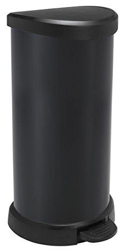 CURVER-Cubo de Basura 40l Colors, plástico, plástico, Negro, 29,8 x 34,9 x 69,7 cm