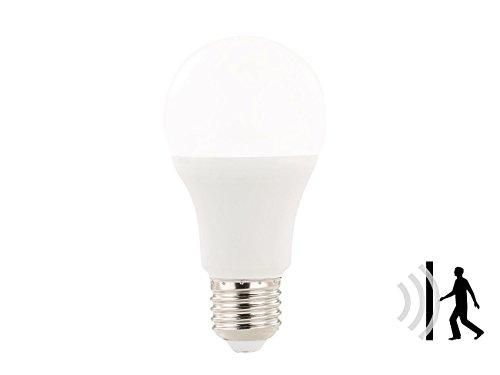 Luminea LED mit Bewegungsmelder: LED-Lampe mit Radar-Bewegungssensor, 12 W, E27, tageslichtweiß 6.400 K (Glühbirne mit Bewegungsmelder)