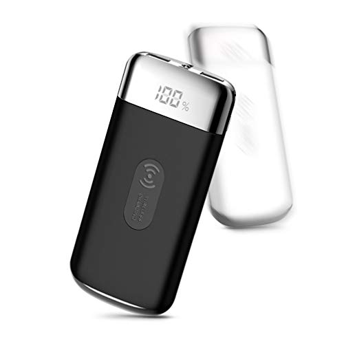 Preisvergleich Produktbild ATUOP 30000 Mah Wireless Power Bank Externe Batterie Pover Bank 2 USB LED Powerbank Tragbares Handy Ladegerät Für Ios