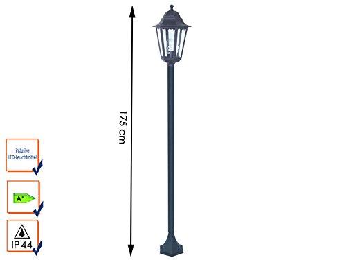 Gartenlaterne / Stehleuchte Classico mit LED Leuchtmittel, Aluminium, Höhe 175 cm, IP44