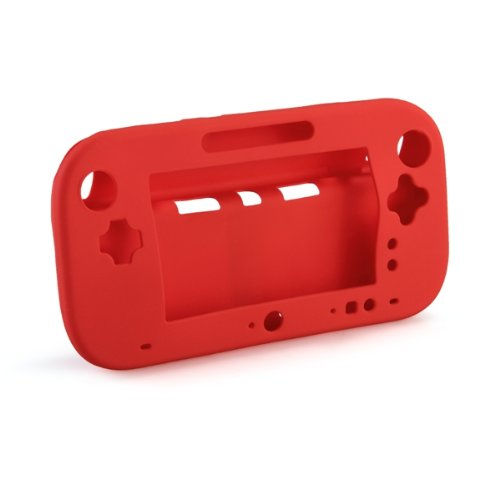 Funda case carcasa protectora Nintendo Wii U Gamepad rojo plástico TPU
