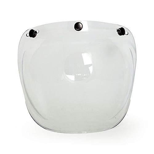 GZM Visiera Bolla Bubble ROEG Clear Trasparente 3 Bottoni Automatici Universale x Casco Jet Moto