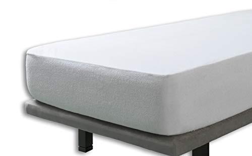 Velfont - Wasserdichte und atmungsaktive Matratzenauflage   Krippe Matratzenschoner   Matratzenschutz mit 100% Baumwolle Frottee - 60x120cm