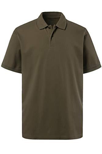 JP 1880 Herren, Poloshirt , Halbarm, Unifarben, Farbe: Khaki, Gr. 7XL -