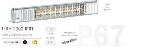 Infrarot-Heizstrahler 1.500 Watt – TERM2000 IP67 – wasserdicht für Terrasse, Balkon oder Gastronomie - 2