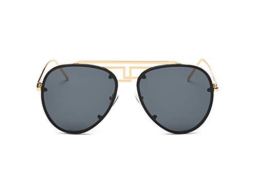 ZJWZ Männer und Frauen Mode Sonnenbrillen Europa und die Vereinigten Staaten Trend Frosch Sonnenbrillen Color Film Metal Sonnenbrille,NO4