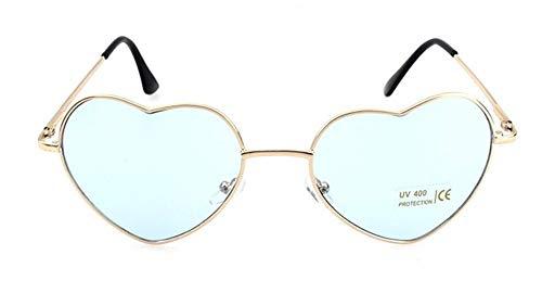 amen Sonnenbrille Herzform Metall Frauen Randlose Kontaktlinsen Sonnenbrille Uv400 Licht Blaue Linse ()