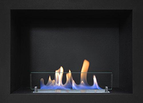 Rubyfires - Chimenea de bioetanol para encajar (incluye caja negra y quemador,...