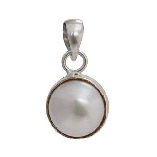 Shiv Ram Jyotish Kendra Original Energized Certified 5.25 Rati Pearl Silver Pendant