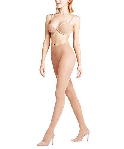 FALKE Damen Strumpfhosen Shelina Toeless 12 DEN, Ultra-Transparente, 1 Stück, Gelb (Sun 4299), Größe: L