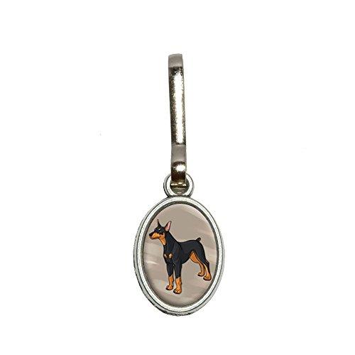 Dobermann Pinscher–oval Hundebett aus Charme Kleidung Handtasche Gepäck Rucksack Reißverschluss (Charme Gepäck)