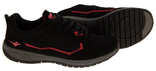 Footwear Studio , Baskets mode pour femme Noir - Black & Pink