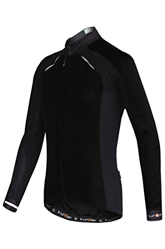 Funkier Herren Active Long Sleeve Sommer Radfahren Jersey Strike M schwarz (Shirt Jersey Riding Sleeve)