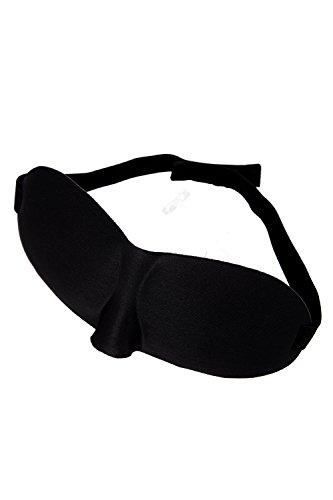 WOVELOT Schlafmaske Augenmaske Schlafbrille Maske Schwarz